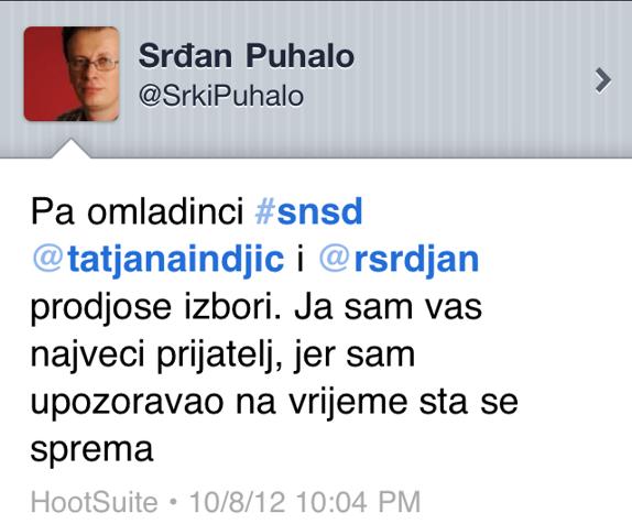 Srdjan Puhalo twitter
